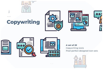 25 Copywriting Icon set