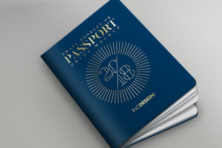 Passport Booklet Photo Realistic MockUp