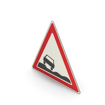 Road Sign Uneven Road Shoulder