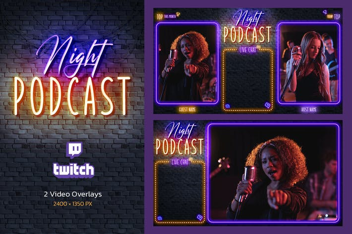 Night Podcast - Twitch Overlay