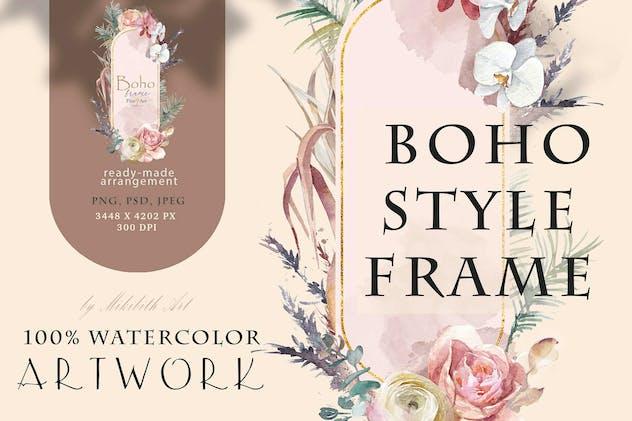 Boho style frame