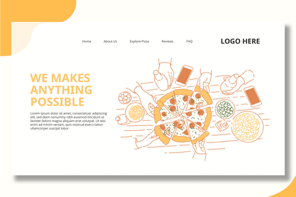 Slice Of Pizza - Landing Page