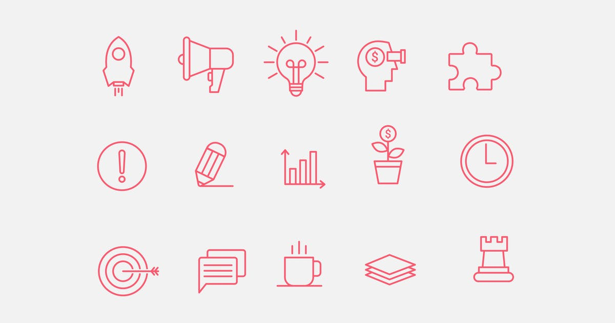 Download 15 Startup Pitch Icons by creativevip