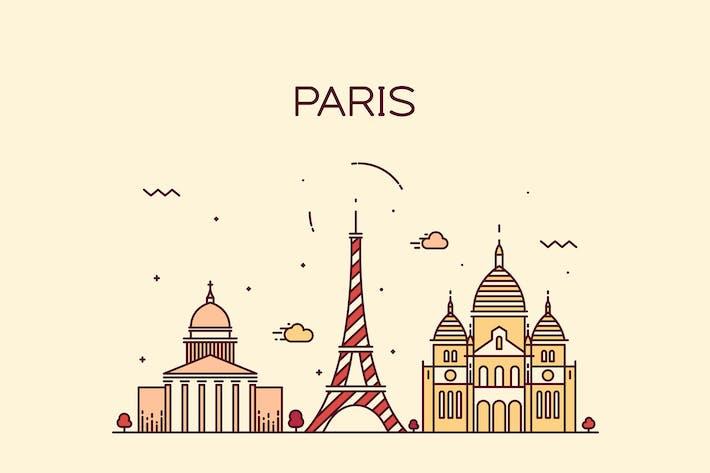 Thumbnail for Paris skyline, France