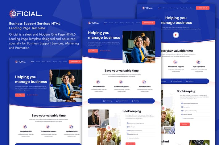 Thumbnail for Oficial Business Support Services Landing Page