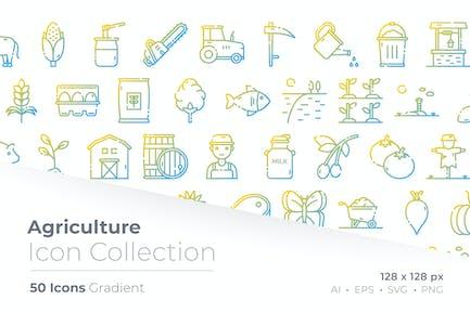 Agriculture Gradient Symbol