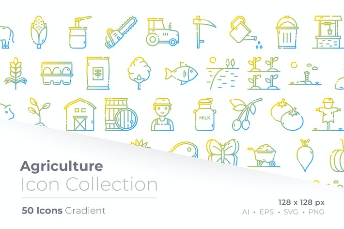 Agriculture Gradient Icon