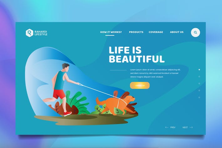 Thumbnail for Healthy Lifestyle Web Header PSD & Vector Template