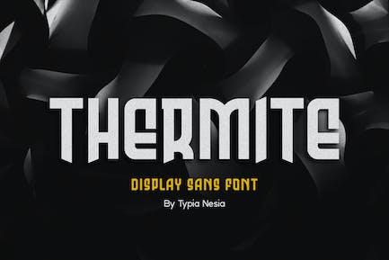 Термометр дисплей - спортивный шрифт