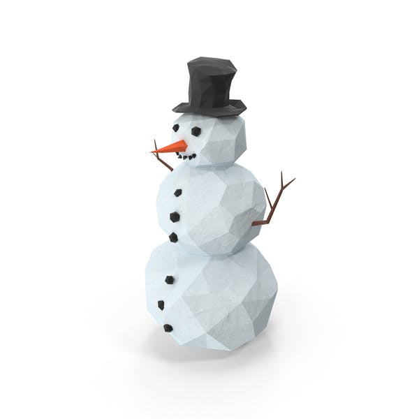 Thumbnail for Low Poly Snowman