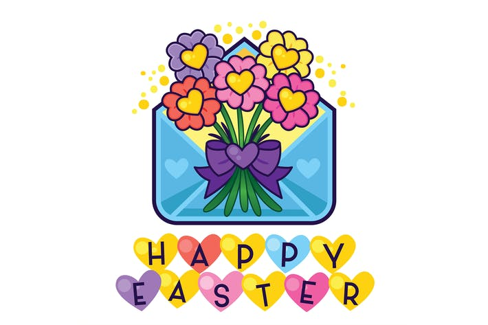 Thumbnail for Happy Easter Flower Envelope