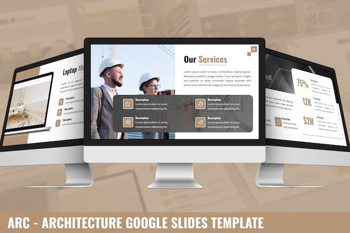 Thumbnail for Arc - Architektur Google PräsentationsVorlage