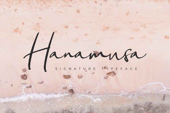 Thumbnail for Fuente de firma de Hanamusa