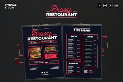 Restaurant Broxy - Menu