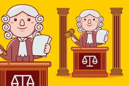 Judge Profession Cartoon Vector