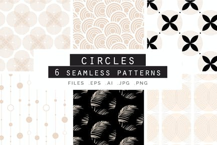 Rose Gold Circles Patterns