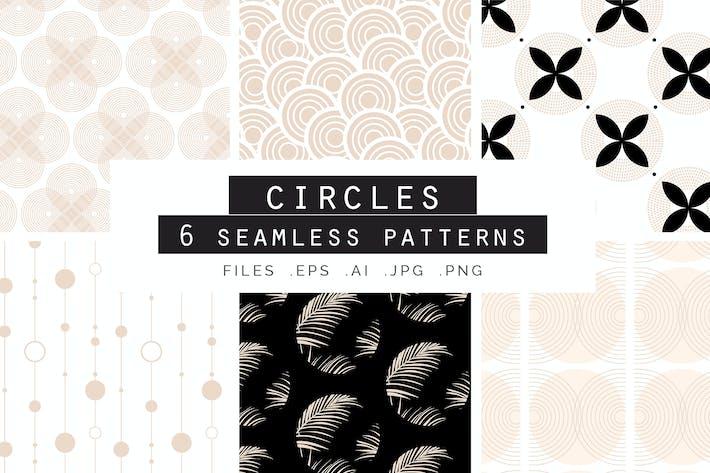 Thumbnail for Rose Gold Circles Patterns