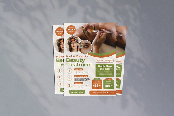 Beauty Treatment Flyer