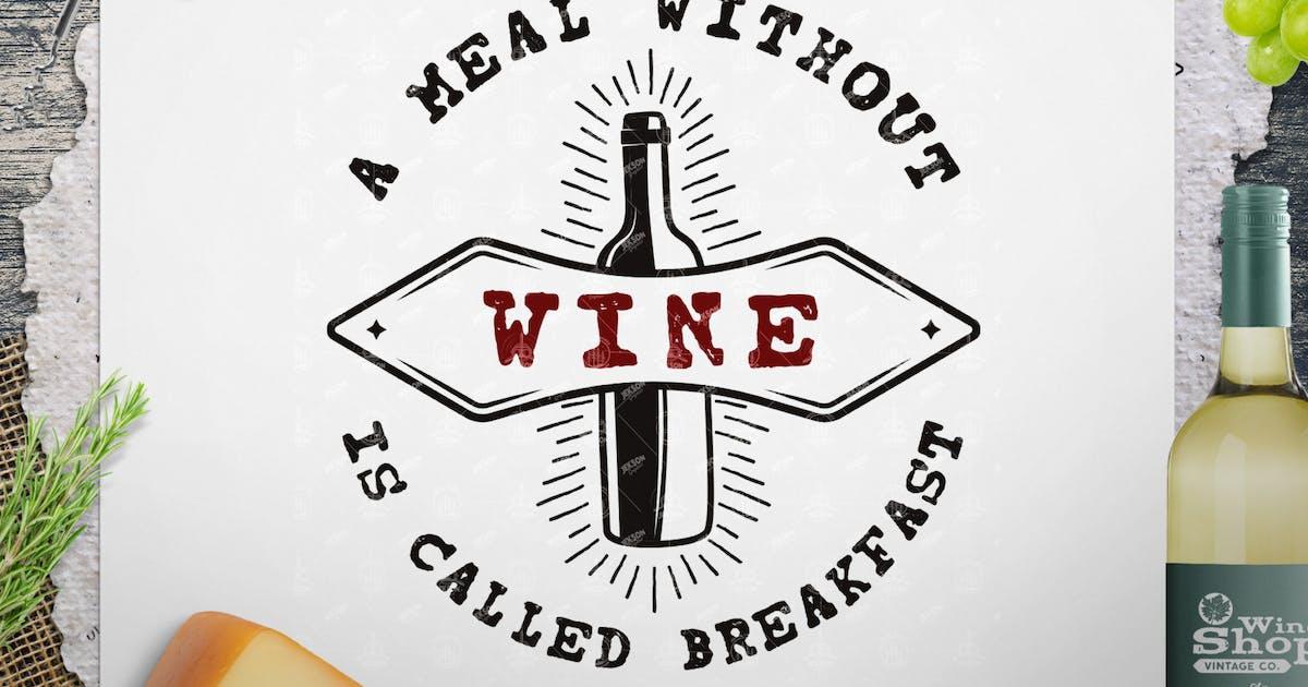 Download Wine Logo Template, Vintage Winery Badge Design by JeksonJS