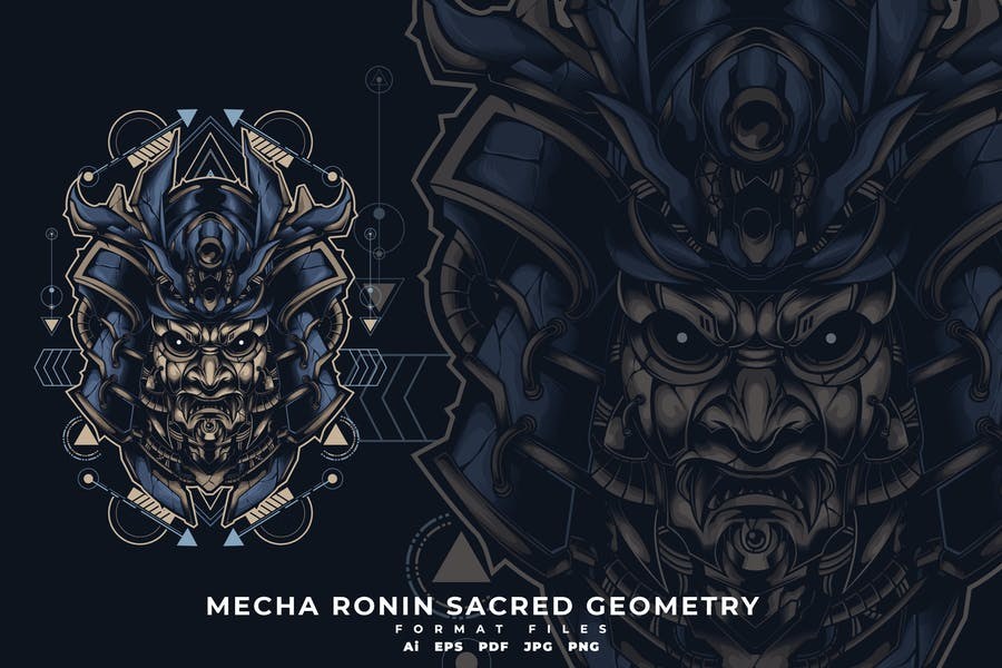 MECHA RONIN SACRED GEOMETRY