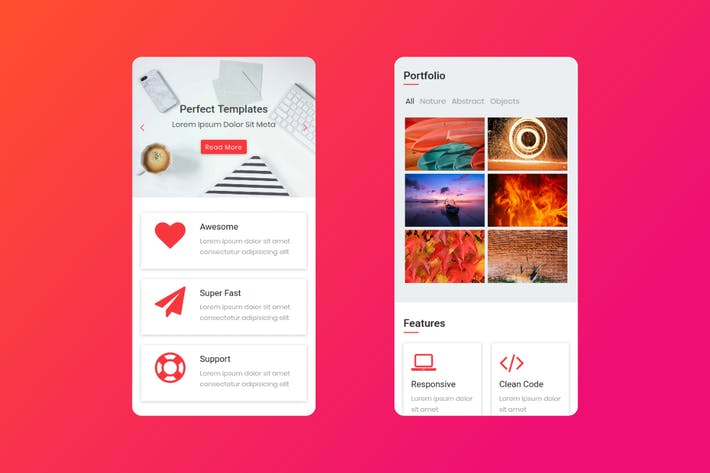 Thumbnail for Stabile - HTML Mobile Template
