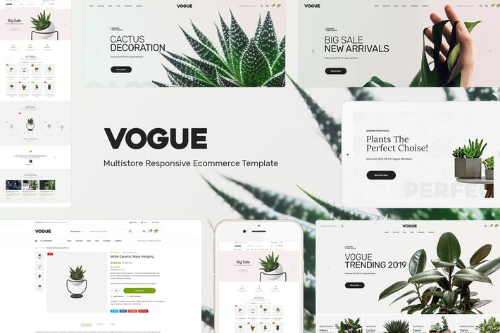 Thumbnail for Vogue - Plant Store Opencart Theme