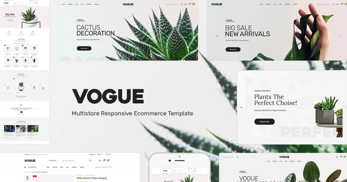 Download Vogue - Plant Store Opencart Theme by Plaza-Themes