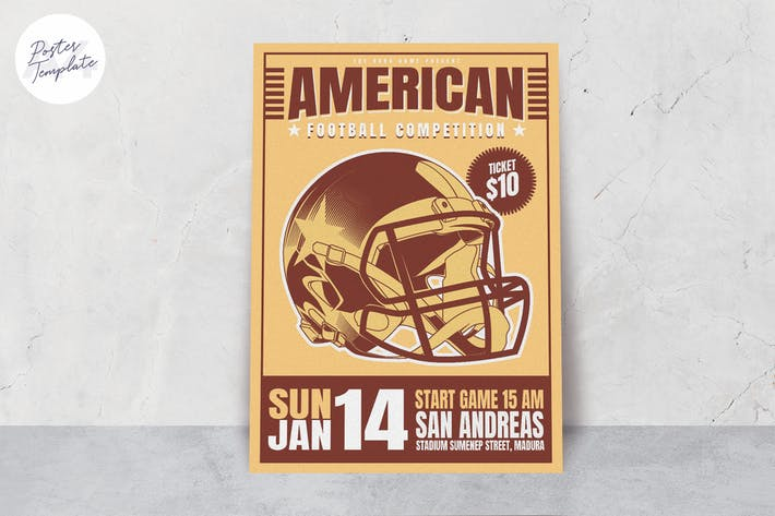 Thumbnail for American Football Print Template