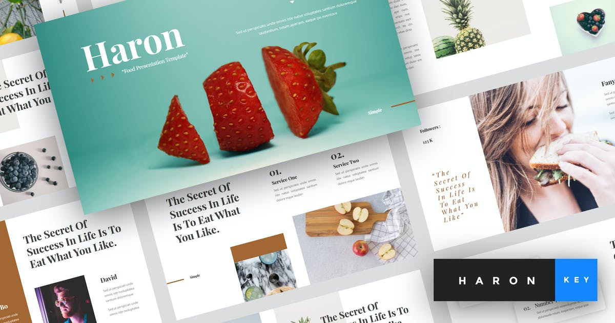 Download Haron - Food Keynote Template by StringLabs