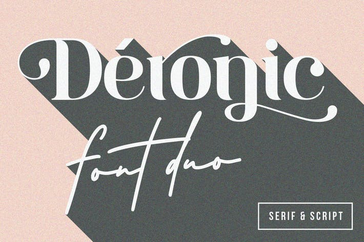 Thumbnail for Deronic Font Duo