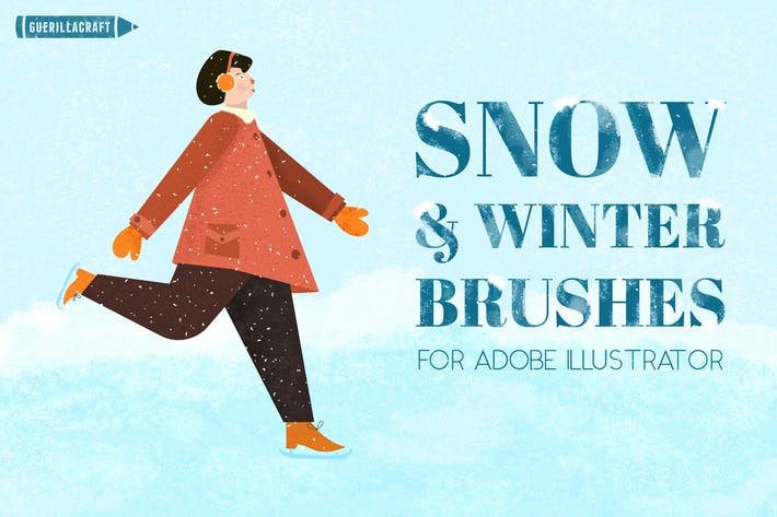Thumbnail for Snow and Winter Brushes for Adobe Illustrator