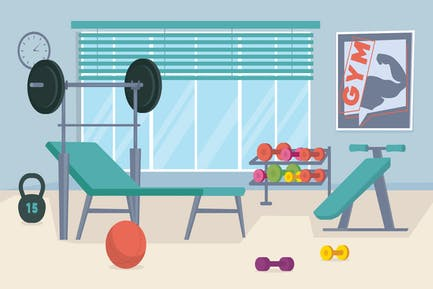Gym - Illustration Background