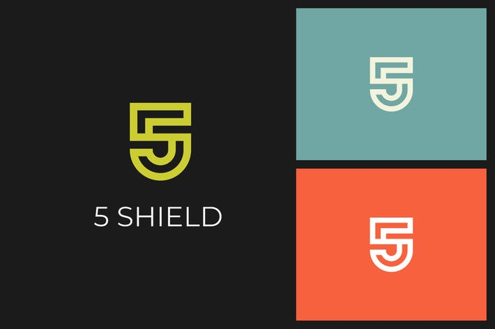 Thumbnail for 5 Shield S Letter Logo