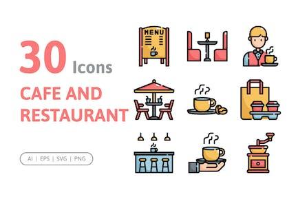 30 Cafe- und Restaurant-Icons