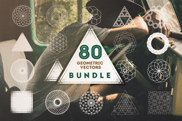 Thumbnail for 80 Geometric Vectors Bundle