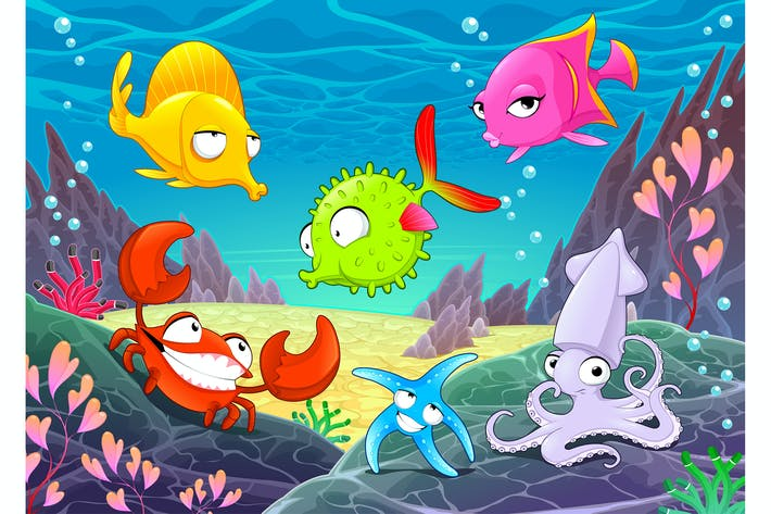 Thumbnail for Happy Animals Under the Sea