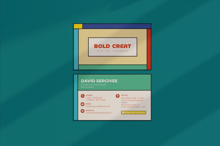 Thumbnail for Bold Creat Business Card