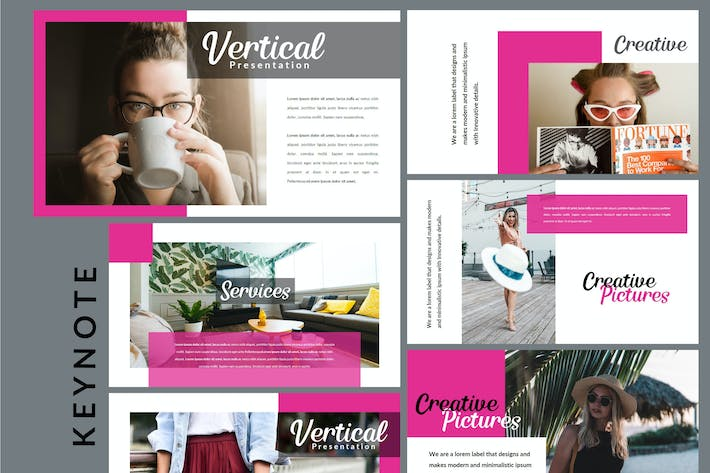Cover Image For Vertical - Creative Keynote Template