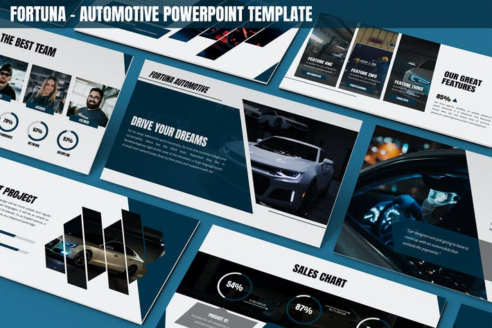 Thumbnail for Fortuna - Automotive Powerpoint Template