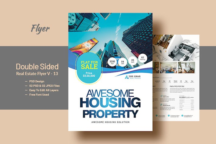 Thumbnail for Double Side Real Estate(Apartment Sales) Flyer V11