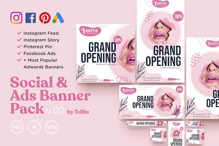 Thumbnail for Social & Ads Banner Pack v02