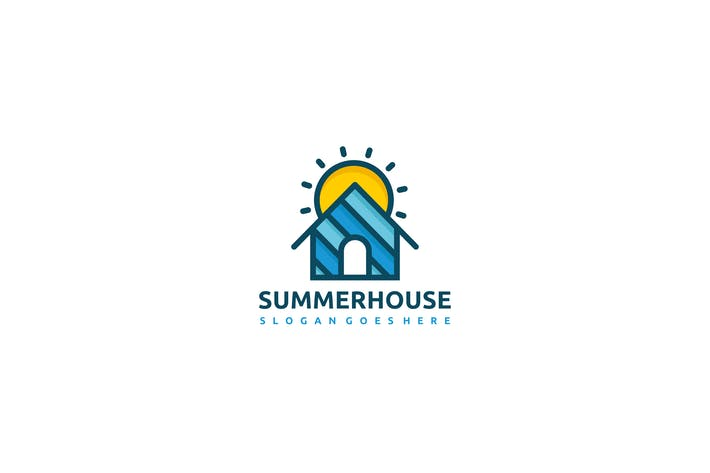 Cover Image For House and Sun Logo