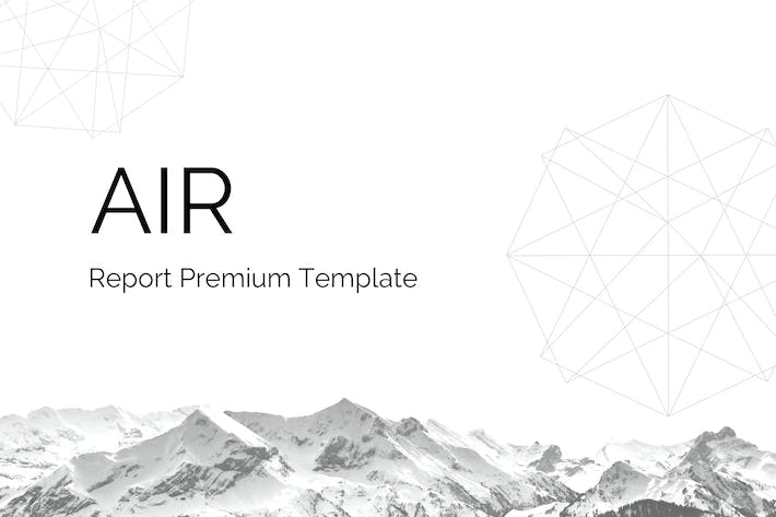 Thumbnail for Air - Google Slides Report Template