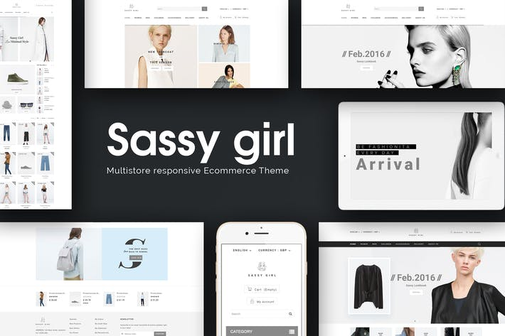Cover Image For Sassy Girl - Women Online Shop Theme for Magento 2