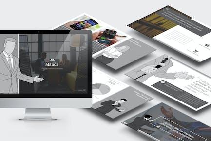 Mande: Ilustración de Perfil empresarial Powerpoint