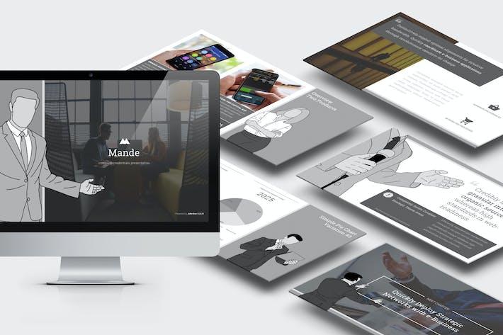 Thumbnail for Mande: Ilustración de Perfil empresarial Powerpoint