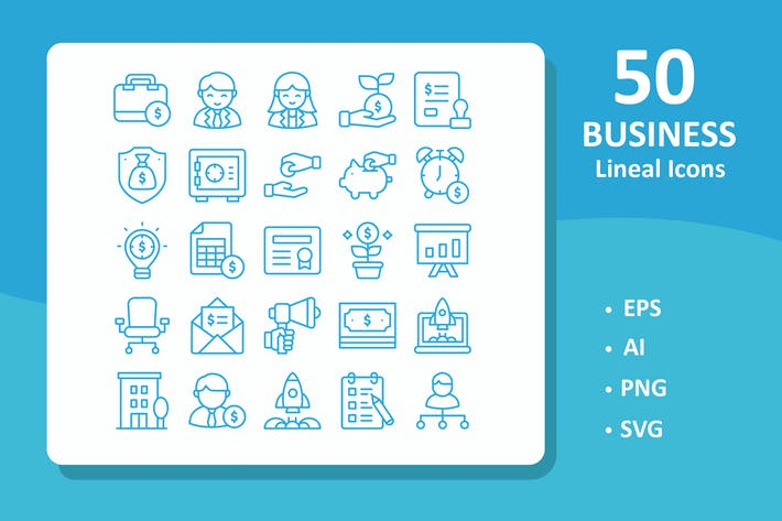 Thumbnail for 50 Business Icons ( Line )