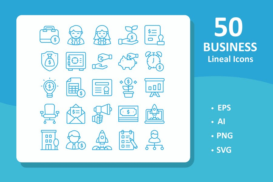 50 Business Icons ( Line )