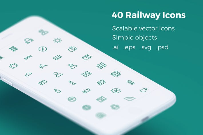 Thumbnail for Railway Tickets Booking & Trips - Vector Icons