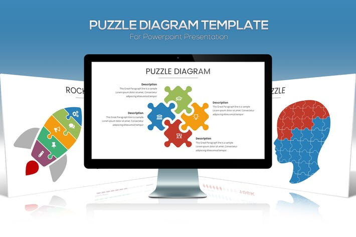 Thumbnail for Puzzle Diagram Powerpoint